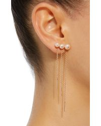 Anissa Kermiche Metallic M'o Exclusive 18k Rose Gold, Pearl And Diamond Earring