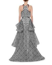 Maticevski Gray 'incarnation' Star Jacquard Organdy Gown