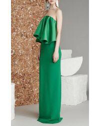 Solace London Blue Liv Ruffle Gown