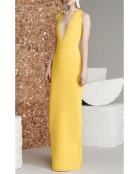 Solace London Yellow Grace Plunge Gown