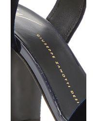 Giuseppe Zanotti - Natural Lavinia Velvet Sandals - Lyst