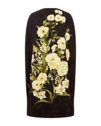 Naeem Khan - Black Floral Printed Cape - Lyst