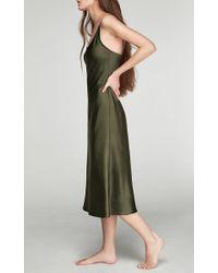 Sleeper Natural Sofia Silk Slip Dress