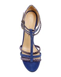 Chloe Gosselin - Blue Caladium T-strap Heels - Lyst