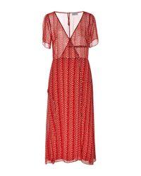 Tanya Taylor Red Daphne Midi Dress