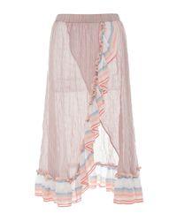 lemlem - Pink Afia Ruffle Wrap Skirt - Lyst