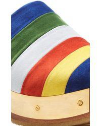 Rosetta Getty - Multicolor Striped Suede Clog - Lyst