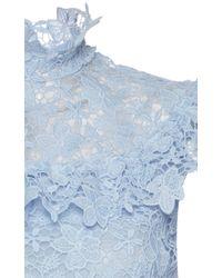 Giamba Blue Lace Mini Dress