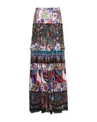 Roberto Cavalli | Multicolor Enchanted Garden Tiered Long Skirt | Lyst