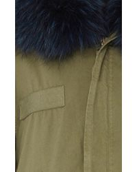 Mr & Mrs Italy - Blue Fur-lined Canvas Parka - Lyst