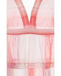 lemlem - Pink Banu Ruffle Midi Dress - Lyst