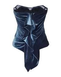 Luisa Beccaria - Black Draped Bustier - Lyst