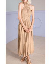 Maria Lucia Hohan Blue Wrap Effect Kade Dress