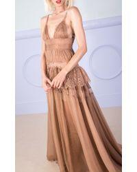 Maria Lucia Hohan Blue Peplum Clara Gown