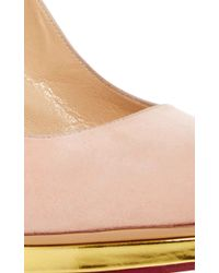 Charlotte Olympia - Multicolor Dotty Suede Pumps - Lyst