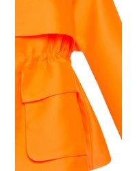 Emilio Pucci - Orange Structured Hooded Jacket - Lyst