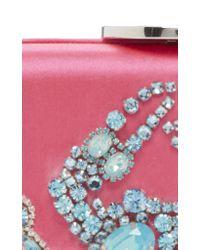 Giambattista Valli Pink Embellished Satin Clutch