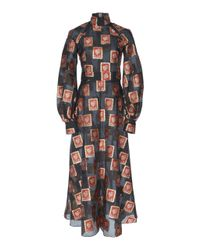 Temperley London Multicolor Elinor Sleeved Dress