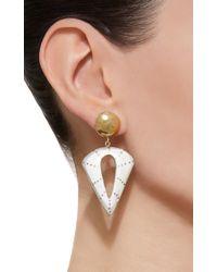 Ashley Pittman White Kuu Light Horn Earring
