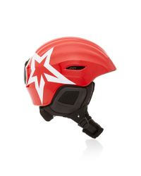 Perfect Moment Red Mountain Mission Star Printed Ski Helmet