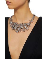 Oscar de la Renta - Metallic Crystal Fireworks Necklace - Lyst