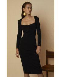 Altuzarra Black Colonia Ruched Dress