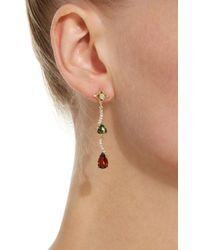 Jordan Alexander - Metallic 18k Gold, Diamond, Tourmaline And Garnet Earrings - Lyst