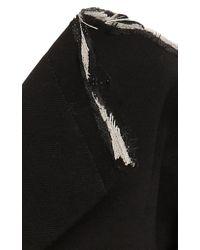 Monse Black Ciara Off-the-shoulder Stretch-wool Coat Dress