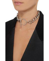 Isabel Marant - Metallic Surpraluminique Silver-tone Crystal Necklace - Lyst