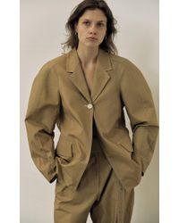 Low Classic Brown Armhole Stitch Jacket