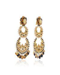 Silvia Tcherassi - Metallic Silk Filigree Earring - Lyst