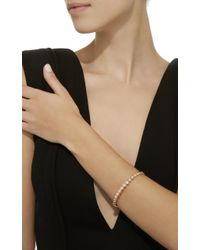 Sara Weinstock - Pink Round Bezel Rose Gold White Diamond Bangle - Lyst