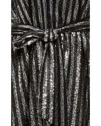 Sally Lapointe - Black Belted Sequin Dress - Lyst