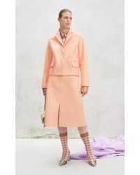Marni Pink Leather Jacket