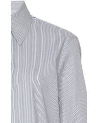 Boontheshop Collection Blue Striped Patchwork-effect Cotton Shirt
