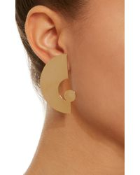 Bia Daidone Metallic Ettore 24k Gold-plated Brass Earrings
