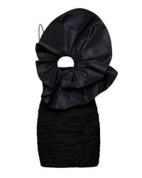 Magda Butrym Black Cutout Silk-blend Dress