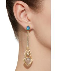 Ark - Blue Mixed Opal Illusion Earring - Lyst