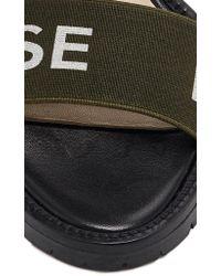 Monse Black Logo Strap Sandal