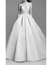 Alex Perry Bride White Suzy Satin Embellished Gown