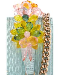 Charlotte Olympia Blue Cooper Clutch With Chain