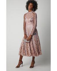 Temperley London Pink Storm Midi Dress