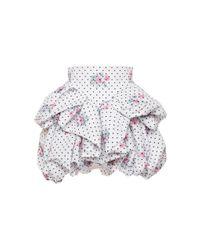 Philosophy Di Lorenzo Serafini Multicolor Floral-print Taffeta Mini Skirt
