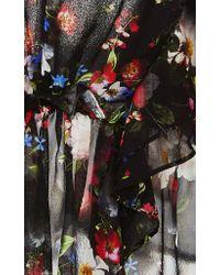Marissa Webb Black Viola Floral Ruffle Top