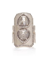 Sylva & Cie - 18k White Gold And Diamond Ring - Lyst