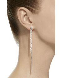 Sidney Garber - 18k White Gold Long Knots Earrings - Lyst