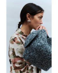 Beaufille Metallic Robusta Silver Ball Earrings