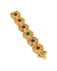 Ben-Amun - Metallic Gold-plated Crystal Bracelet - Lyst