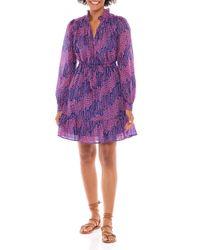 brand: Banjanan Purple Clover Cotton-voile Dress