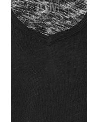 ATM - Black Slub Cotton-jersey T-shirt - Lyst